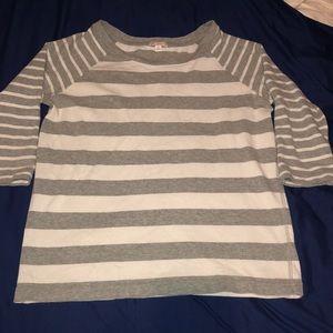 Gap grey and white striped shirt